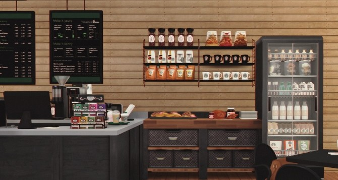 Starbucks Coffee Shop V2 Furnished at Dream Team Sims image 14411 670x357 Sims 4 Updates