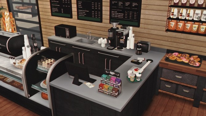 Starbucks Coffee Shop V2 Furnished at Dream Team Sims image 14511 670x377 Sims 4 Updates