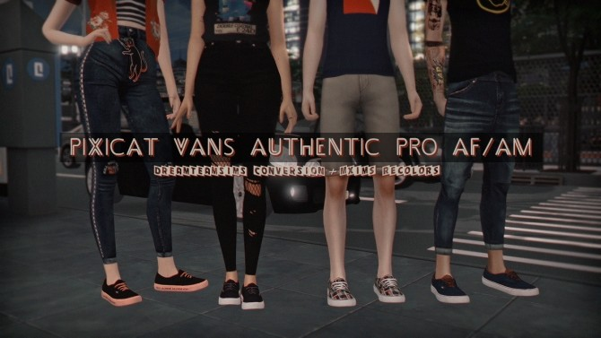 Pixicat Vans Authentic Pro AF/AM Mxims Recolors at Dream Team Sims image 14611 670x377 Sims 4 Updates