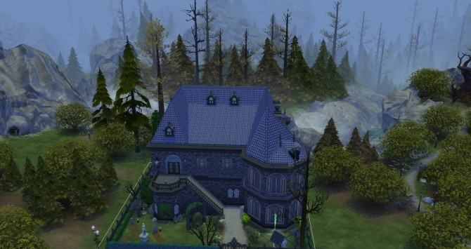 Sims 4 Midnight Vampire Lair house NO CC by busabus at Mod The Sims