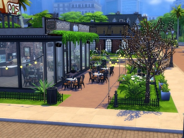 Urban Cafe by galadrijella at TSR image 15 Sims 4 Updates