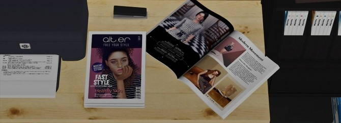 Sims 4 Fashion Magazine Office Set at Dream Team Sims