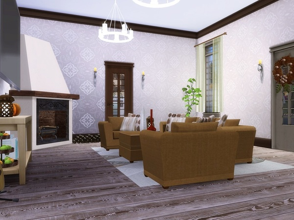 Sims 4 Autumn Leaves family house by MychQQQ at TSR