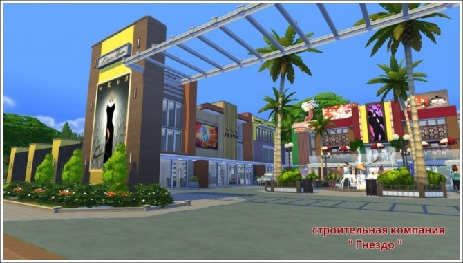 Shopping town at Sims by Mulena image 1512 670x380 Sims 4 Updates
