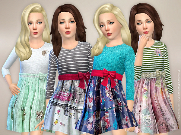 Sims 4 Designer Dresses Collection P90 by lillka at TSR