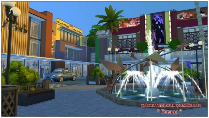 Shopping town at Sims by Mulena image 1521 670x380 Sims 4 Updates
