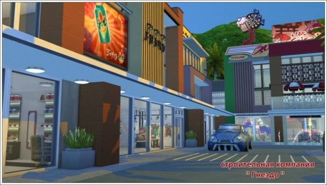 Shopping town at Sims by Mulena image 1531 670x380 Sims 4 Updates