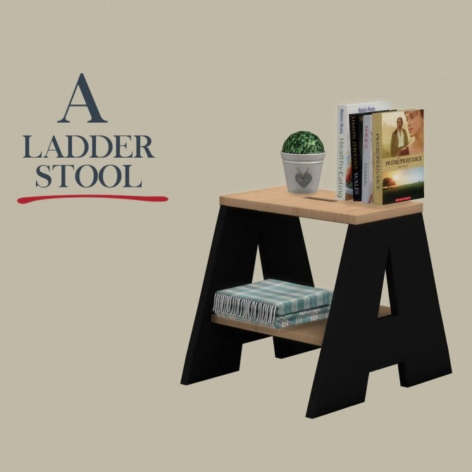 A Ladder Stool at Leo Sims image 1584 670x670 Sims 4 Updates