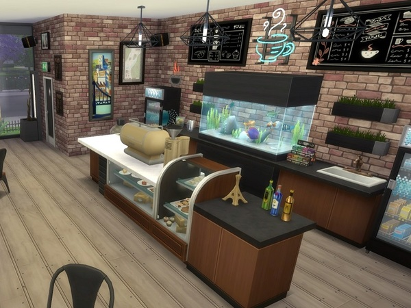Urban Cafe by galadrijella at TSR image 16 Sims 4 Updates