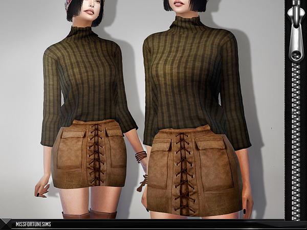Sims 4 MFS Serena Skirt by MissFortune at TSR