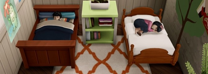 Sims 4 Toddler Bed Set N02 to N05 at qvoix – escaping reality