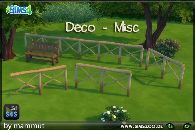 Sims 4 Deco fence rural 1 by mammut at Blacky's Sims Zoo