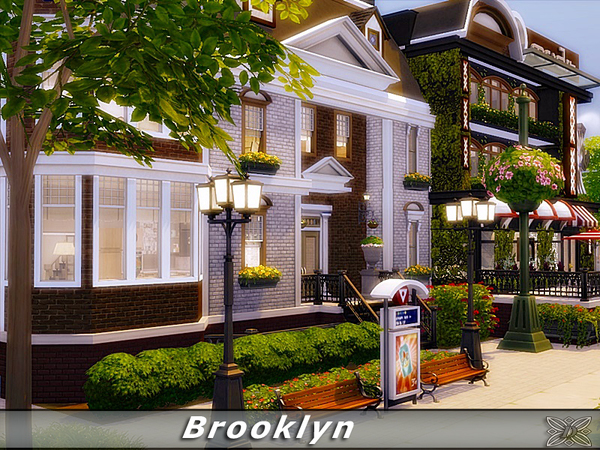 Sims 4 Brooklyn townhouse by Danuta720 at TSR