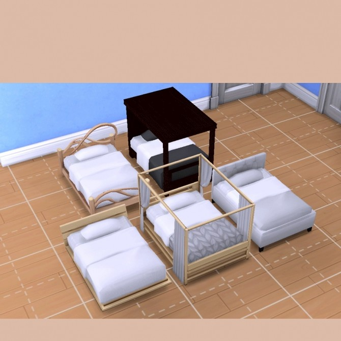 Sims 4 Toddler Bed Set N06 to N10 at qvoix – escaping reality