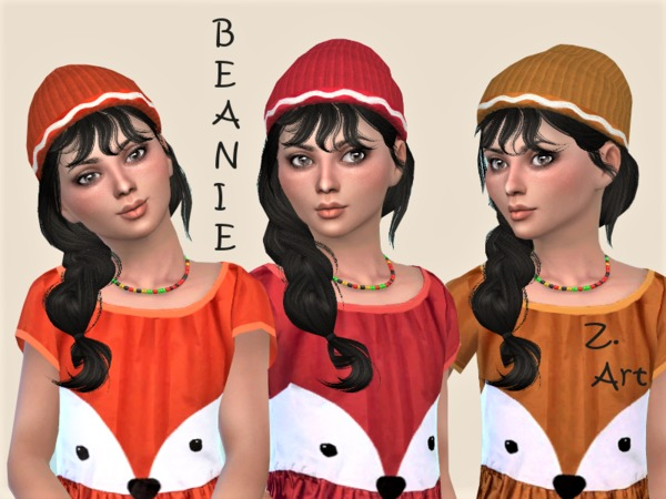 GirlZ 11 funny dress with matching beanie by Zuckerschnute20 at TSR image 1638 Sims 4 Updates
