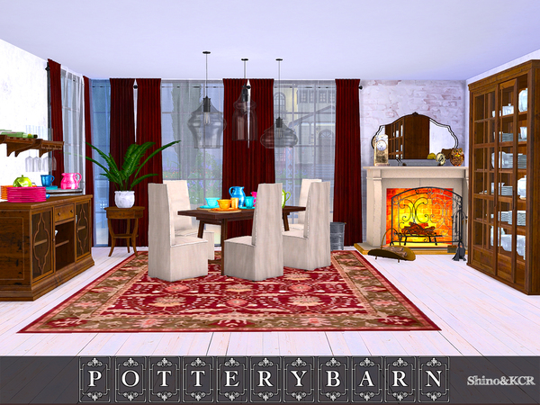 Dining Potterybarn by ShinoKCR at TSR image 1643 Sims 4 Updates