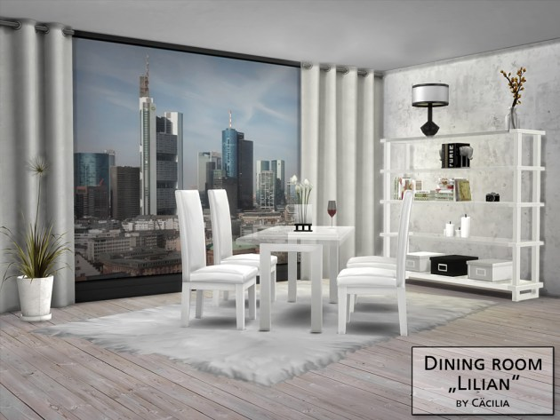 Sims 4 Lilian Diningroom by Cäcilia at Akisima