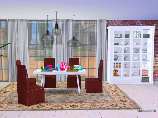 Dining Potterybarn by ShinoKCR at TSR image 1653 Sims 4 Updates