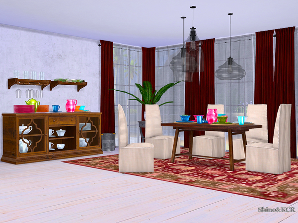 Dining Potterybarn by ShinoKCR at TSR image 1663 Sims 4 Updates