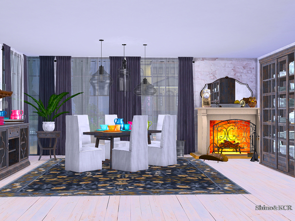 Dining Potterybarn by ShinoKCR at TSR image 1673 Sims 4 Updates