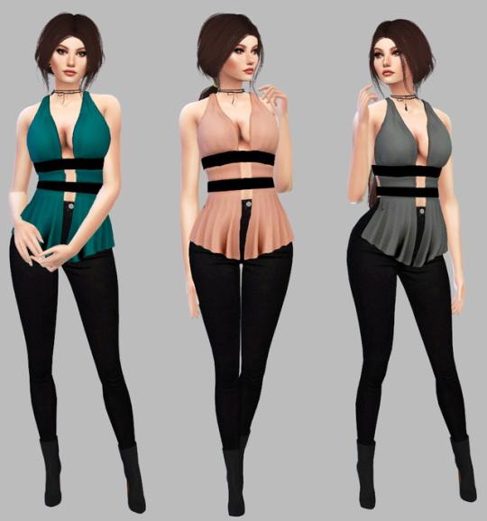 Sims 4 Rose Top at Simply Simming