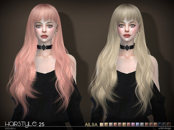 Ailsa n25 hair by S Club at TSR image 1683 Sims 4 Updates