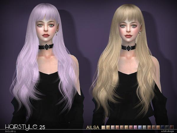 Sims 4 Ailsa n25 hair by S Club at TSR