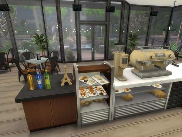 Urban Cafe by galadrijella at TSR image 17 Sims 4 Updates