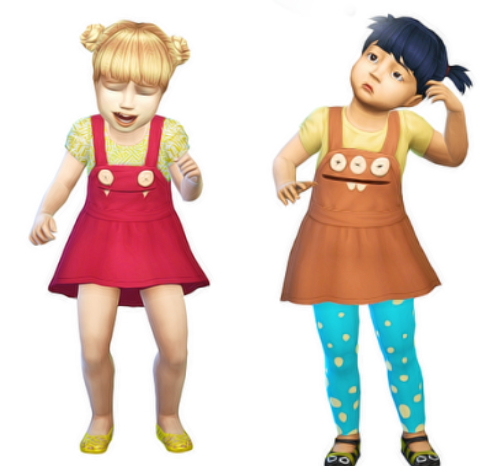 Sims 4 Ugly Monster Toddler Dress at Josie Simblr