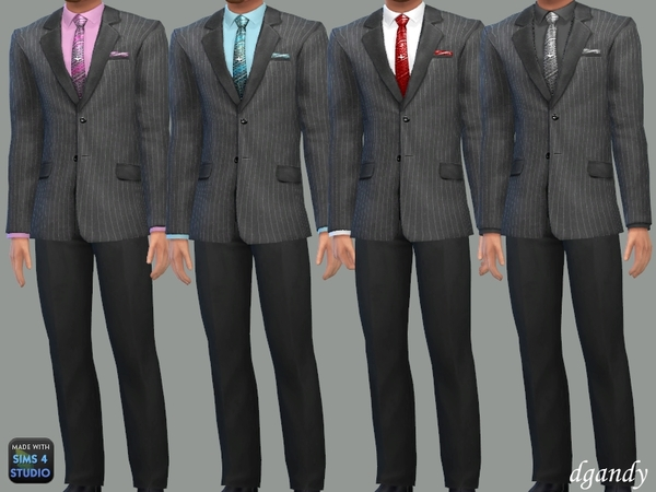 Sims 4 Formal Suit A by dgandy at TSR