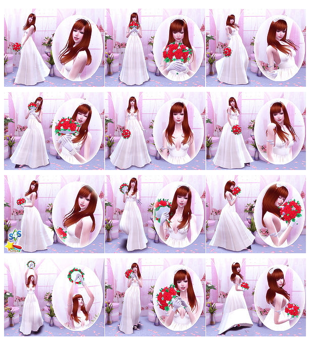 Wedding Poses 1 2 at A luckyday image 176 Sims 4 Updates
