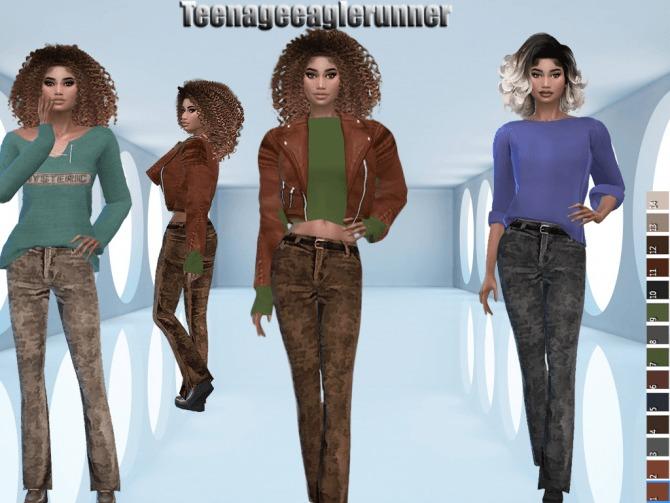 Sims 4 Corduroy Pants at Teenageeaglerunner