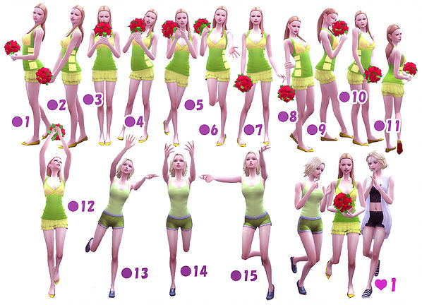 Sims 4 Wedding Poses 1 2 at A luckyday