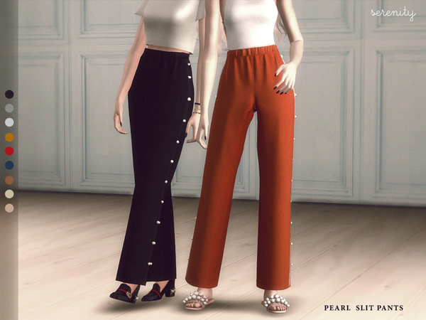 Pearl Slit Pants By Serenity Cc At Tsr 187 Sims 4 Updates