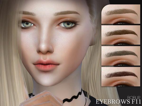 Sims 4 Eyebrows F11 by Bobur3 at TSR
