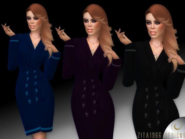 Sims 4 Jacket Dress by ZitaRossouw at TSR