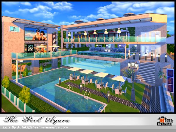 Sims 4 The Pool Agala by autaki at TSR