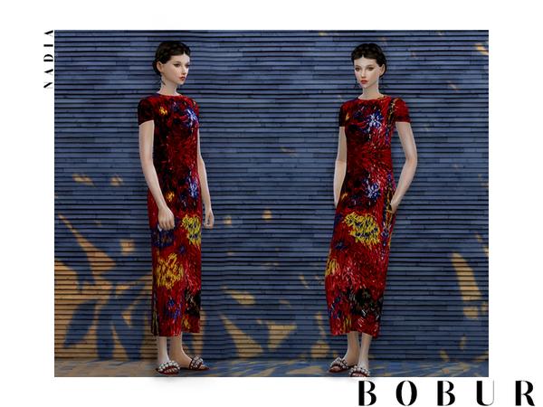 Sims 4 Nadia Dress by Bobur3 at TSR