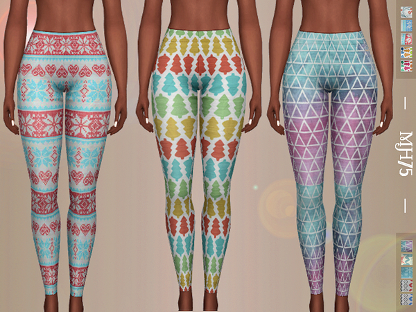 Sims 4 Cosy Leggings 10 versions by Margeh 75 at TSR