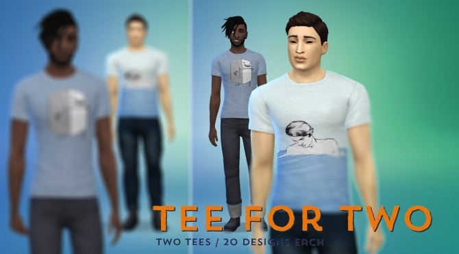 Two tee shirt styles at Baufive – braces image 1842 670x371 Sims 4 Updates