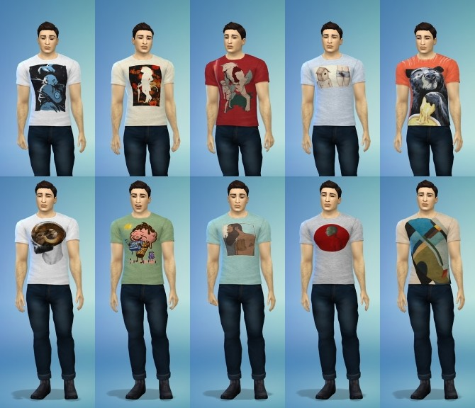 Two tee shirt styles at Baufive – braces image 1872 670x576 Sims 4 Updates