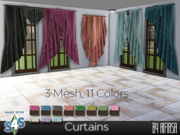 Sims 4 Curtains at Aifirsa