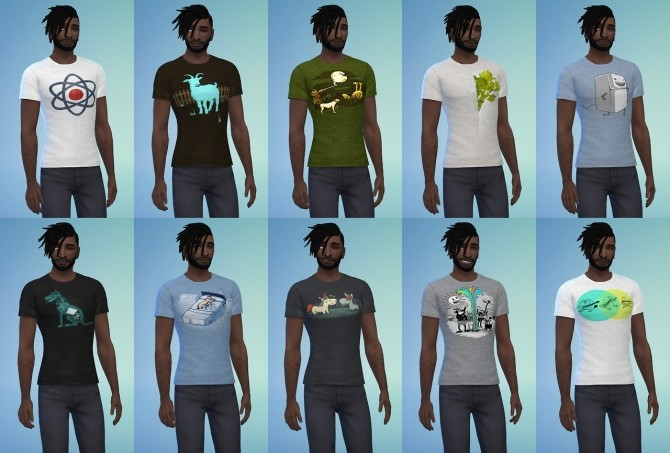 Two tee shirt styles at Baufive – braces image 1902 670x453 Sims 4 Updates