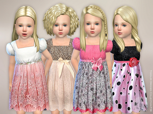 Sims 4 Toddler Dresses Collection P36 by lillka at TSR