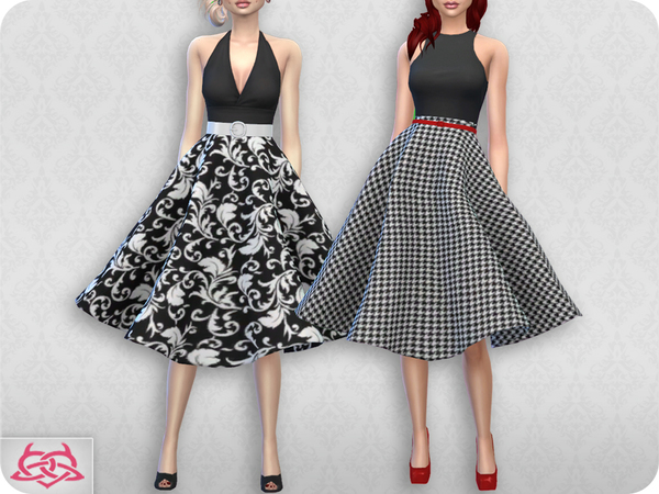 Vintage Basic skirt 2 RECOLOR 2 by Colores Urbanos at TSR image 1925 Sims 4 Updates