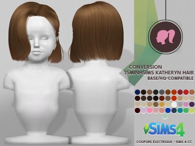 Sims 4 TSMINHSIMS KATHERYN HAIR at REDHEADSIMS