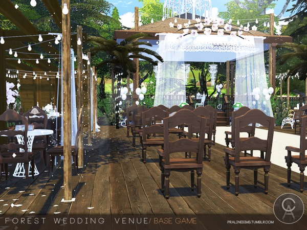 Forest Wedding Venue By Pralinesims At TSR » Sims 4 Updates