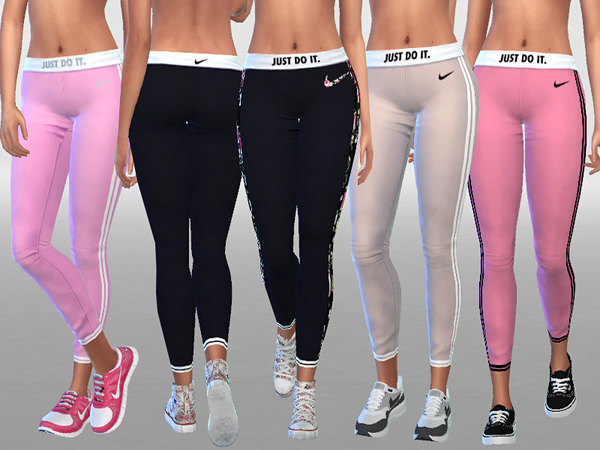 Sims 4 Leggings by Pinkzombiecupcakes at TSR