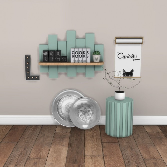Shelf and Side Table at Leo Sims image 2021 670x670 Sims 4 Updates