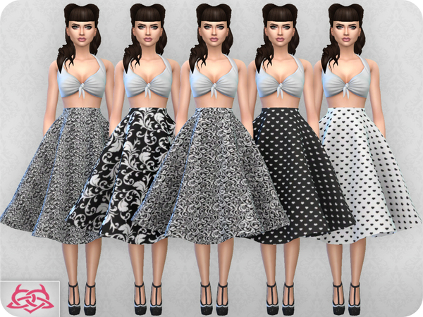 Vintage Basic skirt 2 RECOLOR 2 by Colores Urbanos at TSR image 2024 Sims 4 Updates